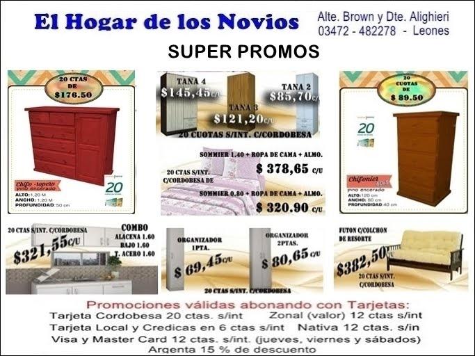 ESPACIO PUBLICITARIO: MUEBLERÍA EL HOGAR DE LOS NOVIOS