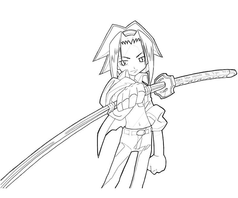 printable-shaman-king-yoh-asakura-sword-coloring-pages