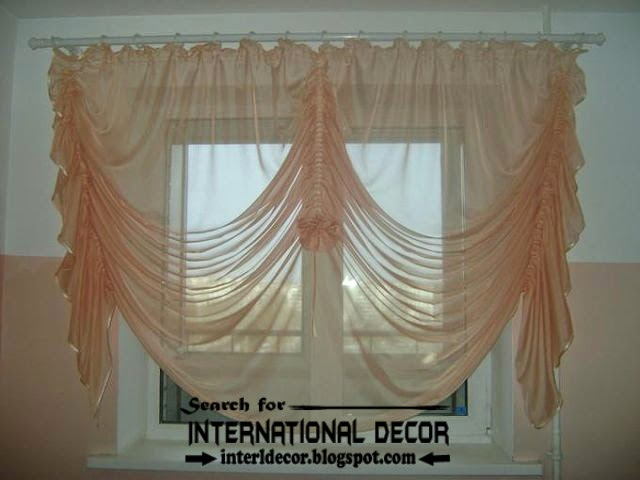 kitchen curtains designs, ideas 2015, French curtains for kitchens, orange curtains