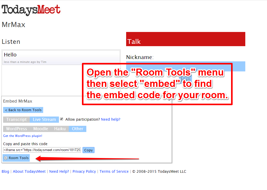 Free technology for teachers embed todaysmeet rooms into for Embed a forum into your website