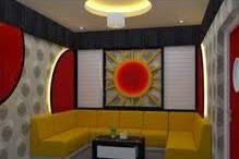 Desain Furniture dan Interior design Ruang Karaoke Keluarga Suasana Nyaman Menarik