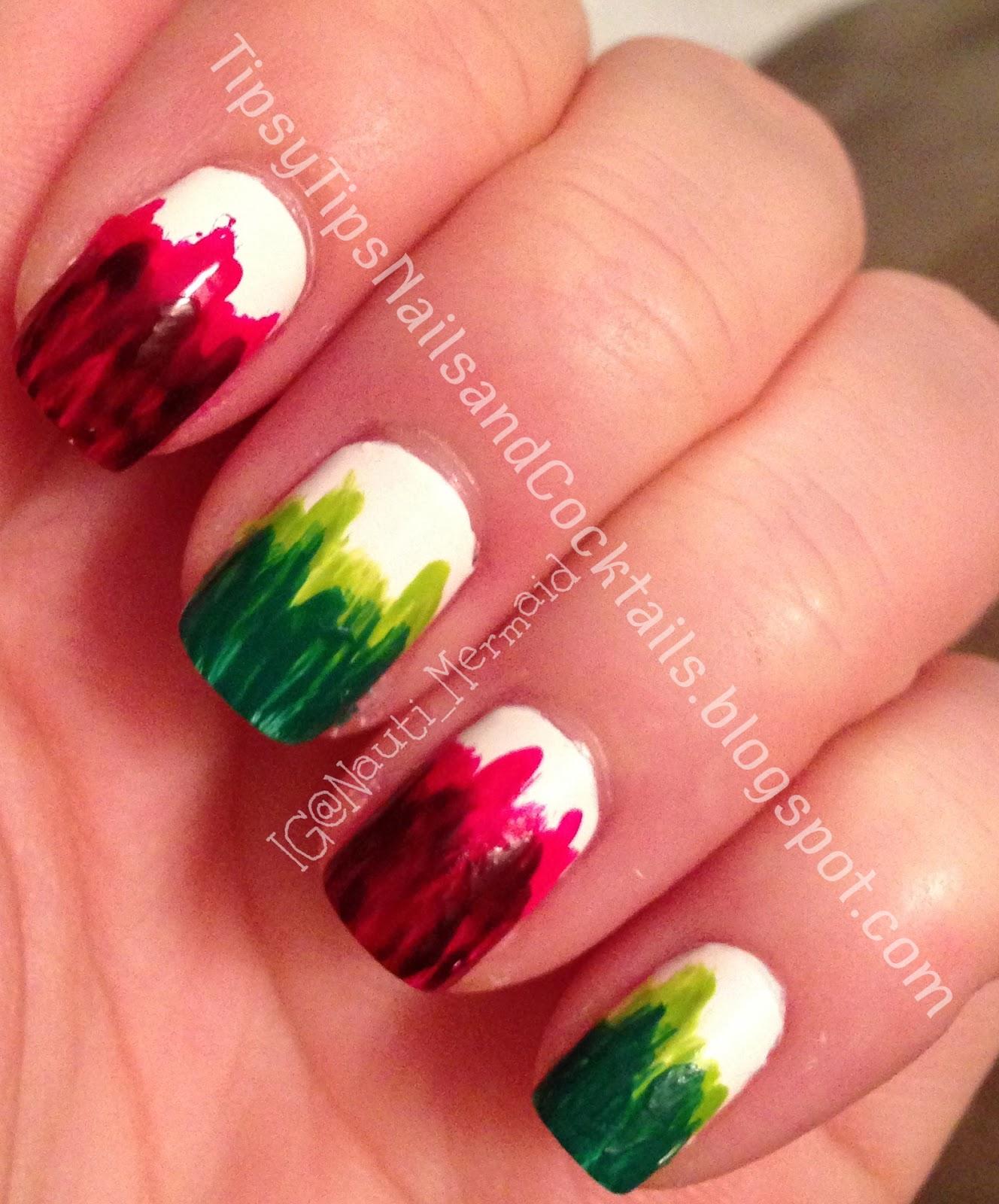 Nail Art Dip Dye Nail: Nauti Nails: Christmas Dip-Dye Nails