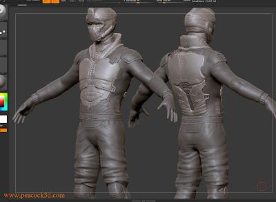 Pixologic ZBrush Mech Soldier Sculpt WIP