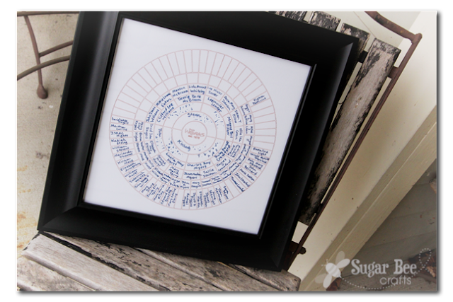 Silhouette Cameo Ancestry Genealogy Chart
