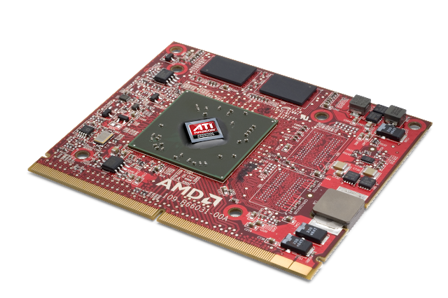 Integrated laptop video card