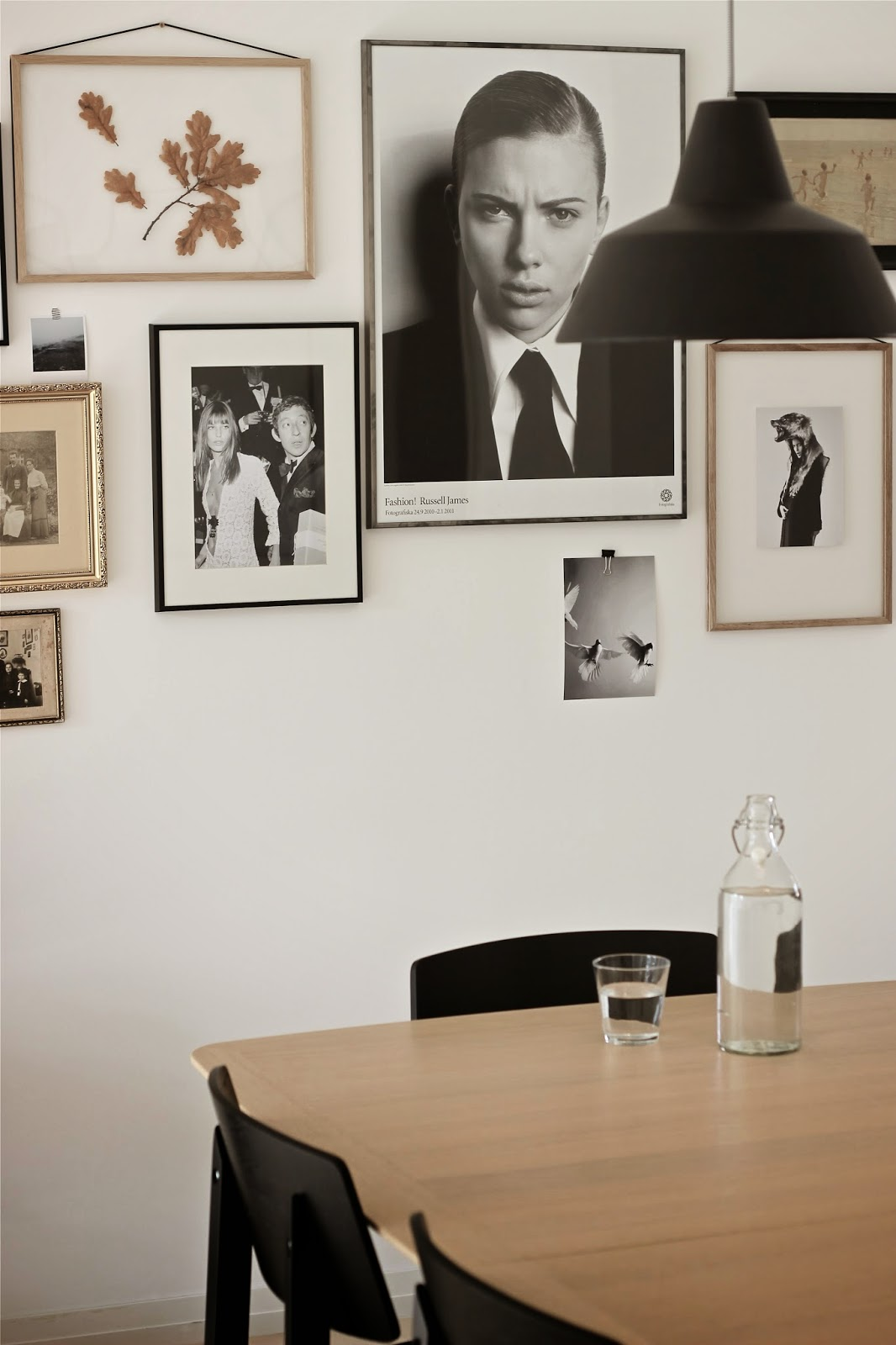 picture wall, gallery wall, scandinavian interior