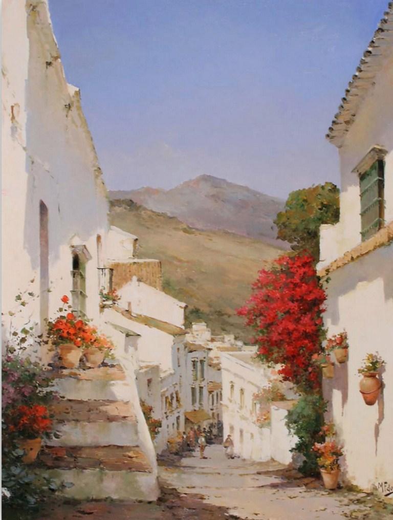 Cuadros modernos pinturas y dibujos casas y paisajes - Paisajes de casas ...