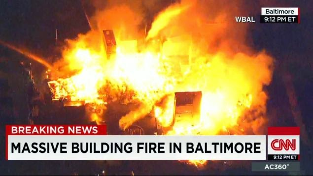 Baltimore burning