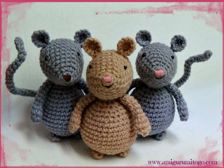 Amigurumi Patterns Free Mouse : Video Amigurumi Mouse Tutorial In English Dutch Vietnamese ...