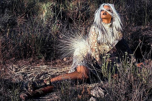 Rihanna in a fantasy photo shoot for the magazine 2014