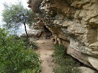 El replà en el que es troben les Cuines d'en Rocaguinarda