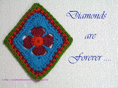 Crochet diamond motif1