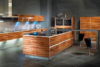 Ahşap Kaplamalı Mutfak Modelleri
