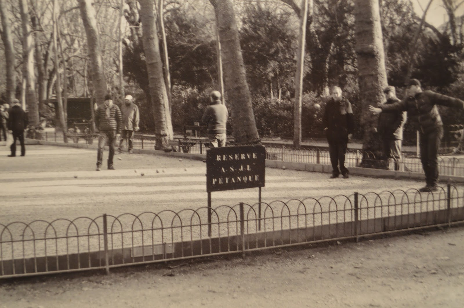 Photography: Playing petanque in Luxembourg gardens, Paris