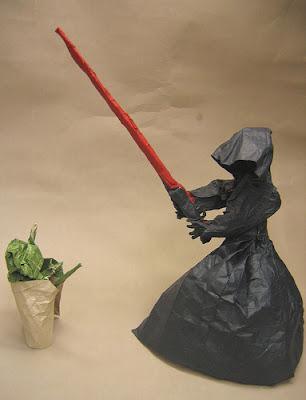 Yoda vs The Emperor Origami