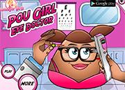 Pou Girl Eye Doctor