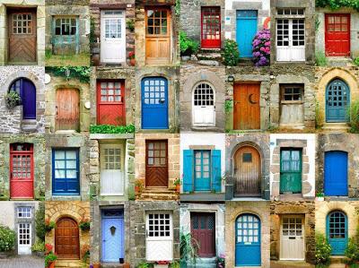 colorful entrances