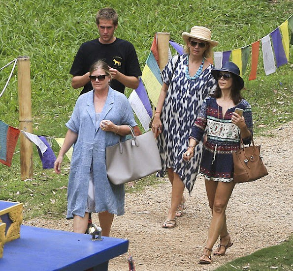 Crown Princess Mary of Denmark and her friends visited Crystal Castle & Shambhala Gardens in Byron Bay