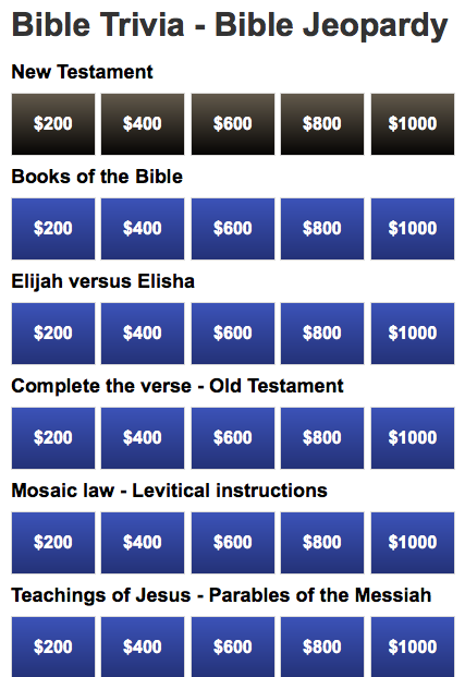 Effortless image regarding printable bible jeopardy questions and answers