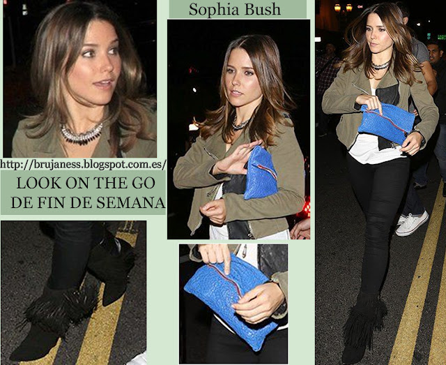 Look On the go. Sophia Bush la semana pasada saliendo del club Sayers después de asistir al concierto de Prince en Hollywood.