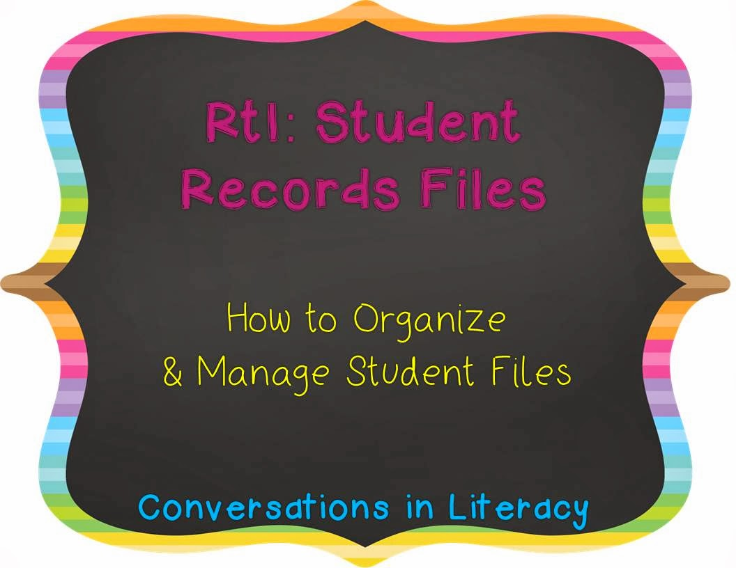 how to organize and manage student data