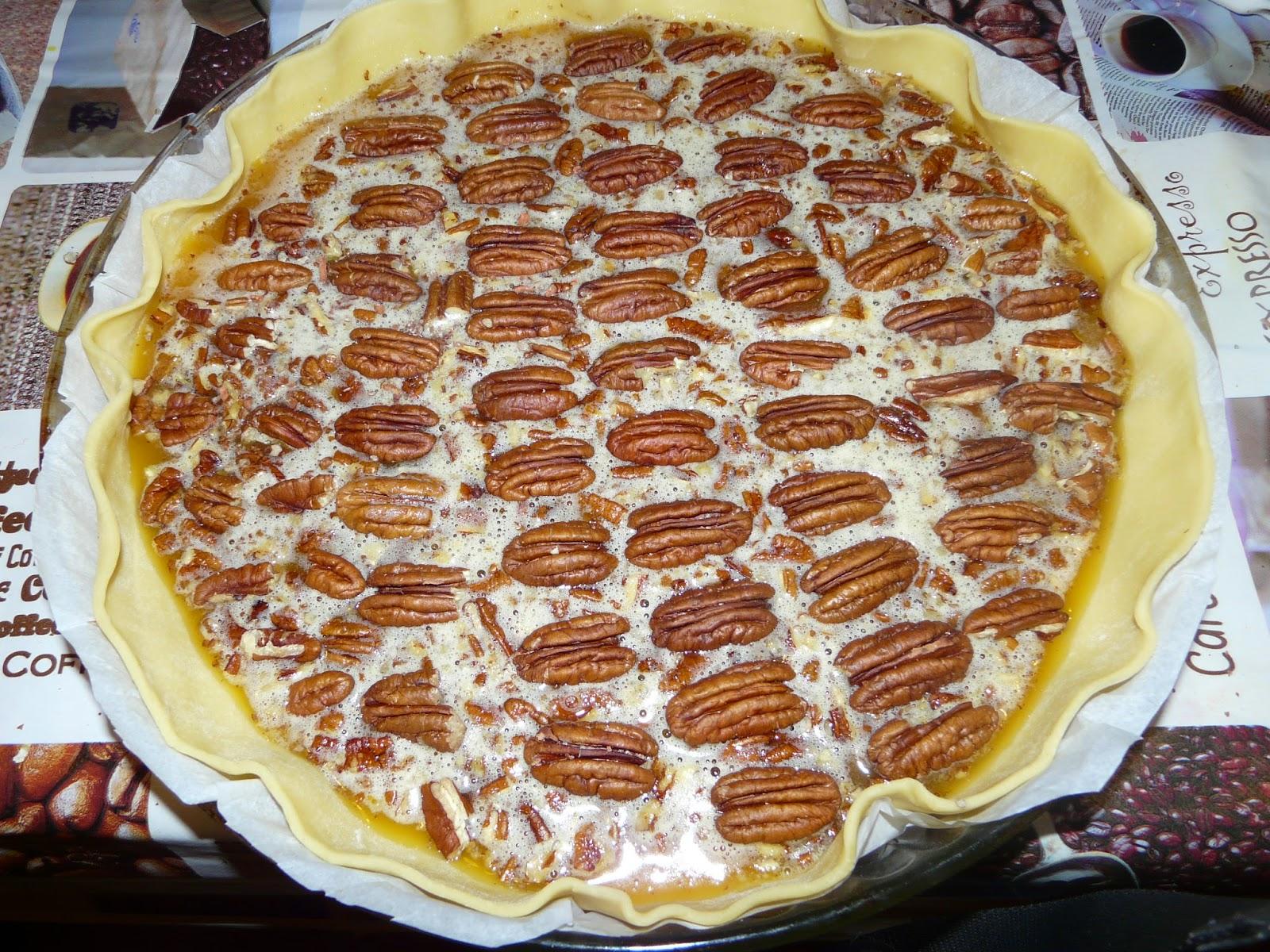 pecan pie de thanksgiving la tarte aux noix de p can des us. Black Bedroom Furniture Sets. Home Design Ideas