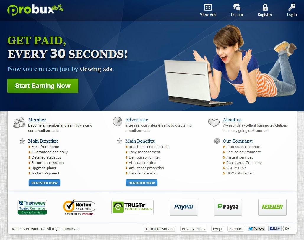 ربح المال بسهولة من منزلك مع شركة probux
