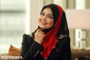 Gambar Manis Siti Nurhaliza Bertudung Penuh