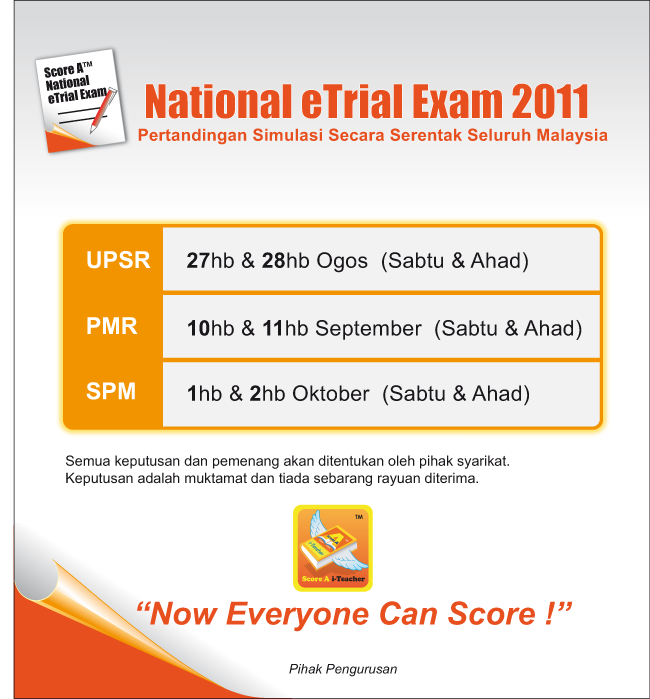 upsr and pmr examinations should be Well, i think it's inappropriate to abolish the upsr and pmr examination there  are so many things that will affect if the education ministry.
