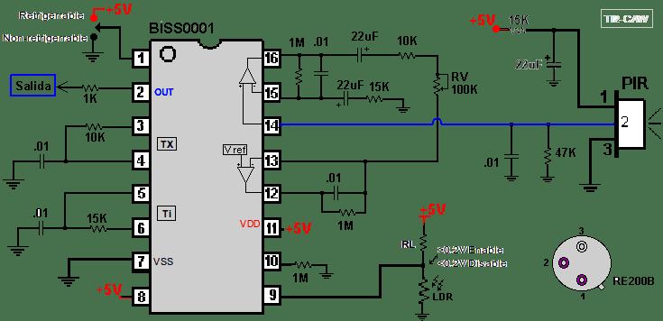 Gut gemocht Schema Construire un détecteur de mouvement PIR - capteurs et de  DH23
