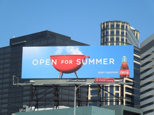 Open for Summer Coca-Cola billboard