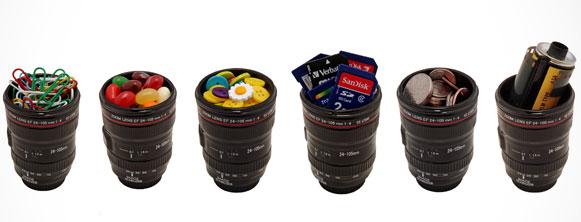 10 maneiras de reciclar lentes fotográficas porta treco