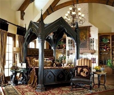 foto dormitorio gótico