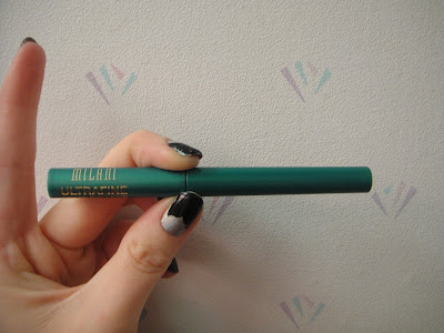 Milani ultrafine liquid liner in emerald glisten Review and Swatches, milani, emerald glisten, milani eyeliner, milani felt liner