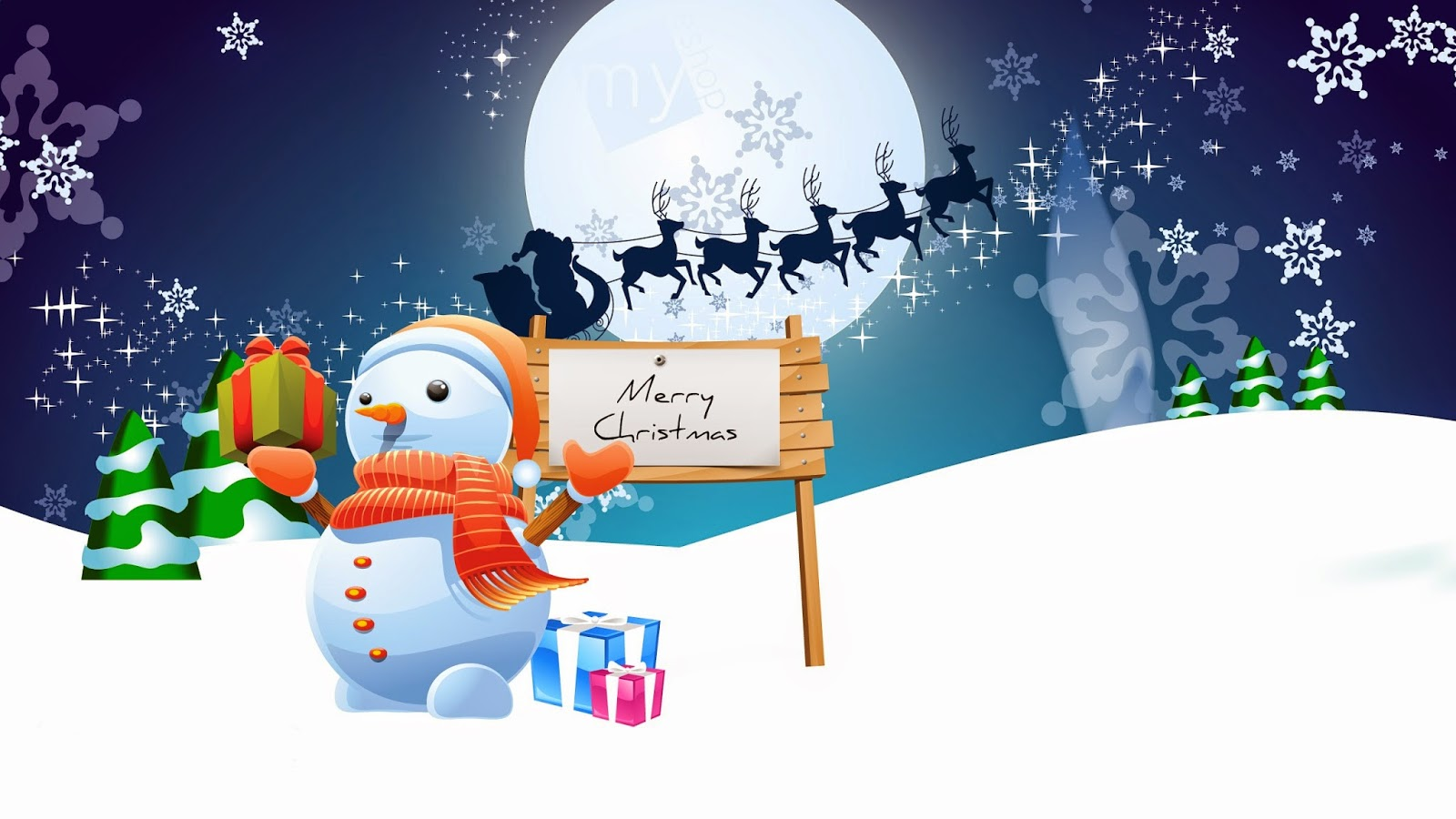 Snowman-with-merry-Christmas-greetings-texted-board-wish-wallpaper-image.jpg