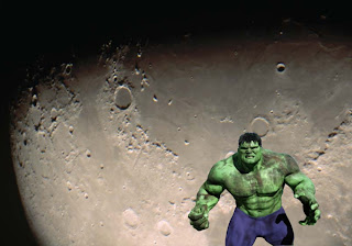 Hulk Posters Wallpapers The Incredible Hulk Fighting and Walking on the Moon Surface background