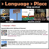 language/place blog carnival