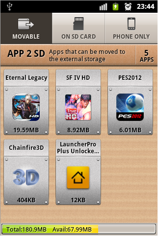 move files to sd apk