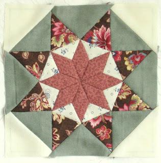 Blok 18 van de 1865 passion sampler quilt