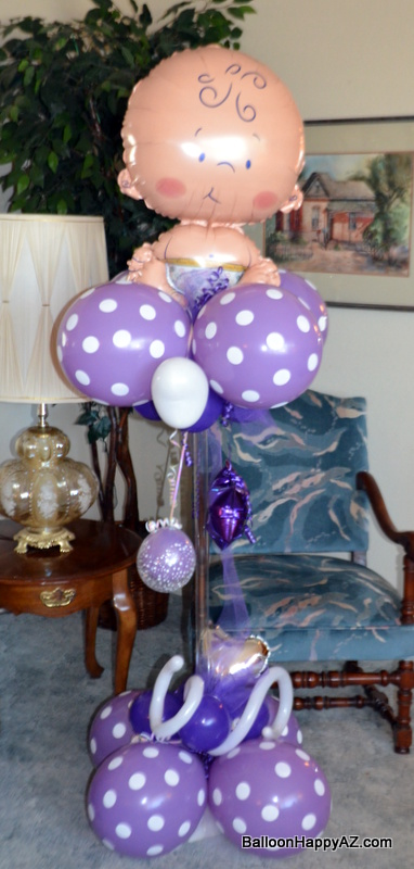 Balloon happy az baby shower balloon decorations it 39 s for Balloon decoration for baby shower