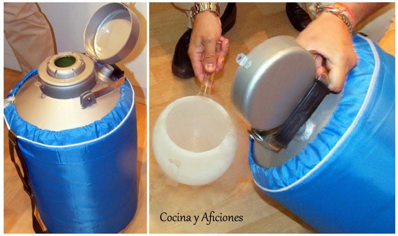 Memoria dulce tema 12 postres emplatados introducci n for Nitrogeno liquido para cocinar