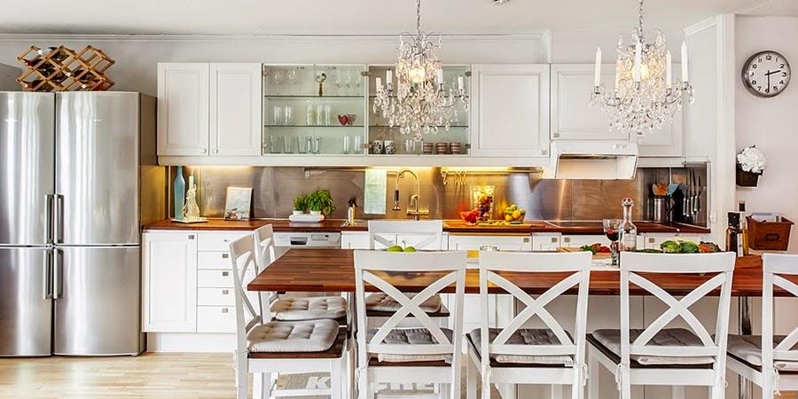 wystrój wnętrz, wnętrza, urządzanie mieszkania, dom, home decor, dekoracje, aranżacje, biała kuchnia, wyspa kuchenna
