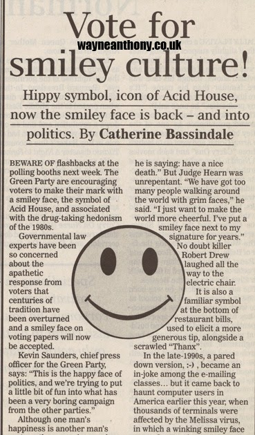 The history of acid house class of 88 wayne anthony for Acid house history