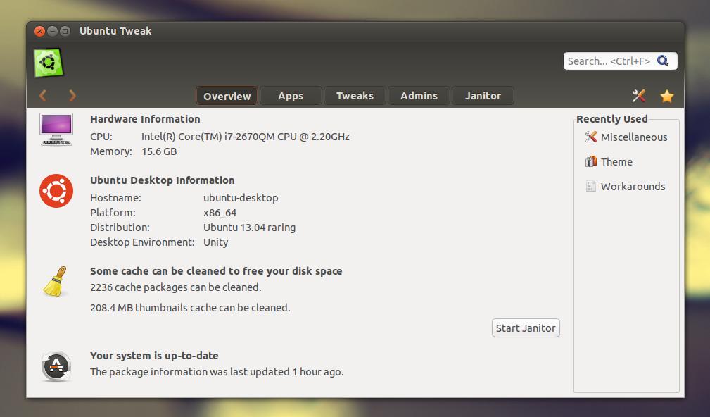 Download ubuntu tweak 084 now compatible with ubuntu 1304 here are a few ubuntu tweak screenshots voltagebd Images