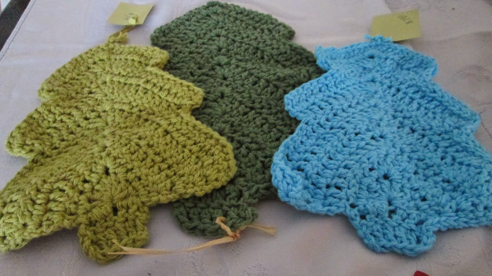 Christmas Tree Dishcloths