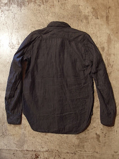 engineered garments work shirt in indigo denim shirting