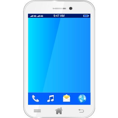 Smartphone blanco - Vector
