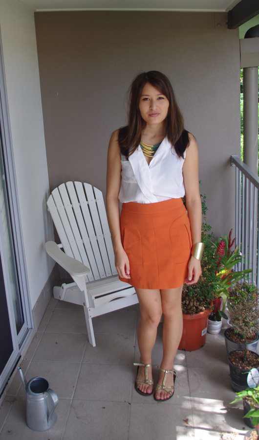 Zukoh Blouse, Zara Skirt