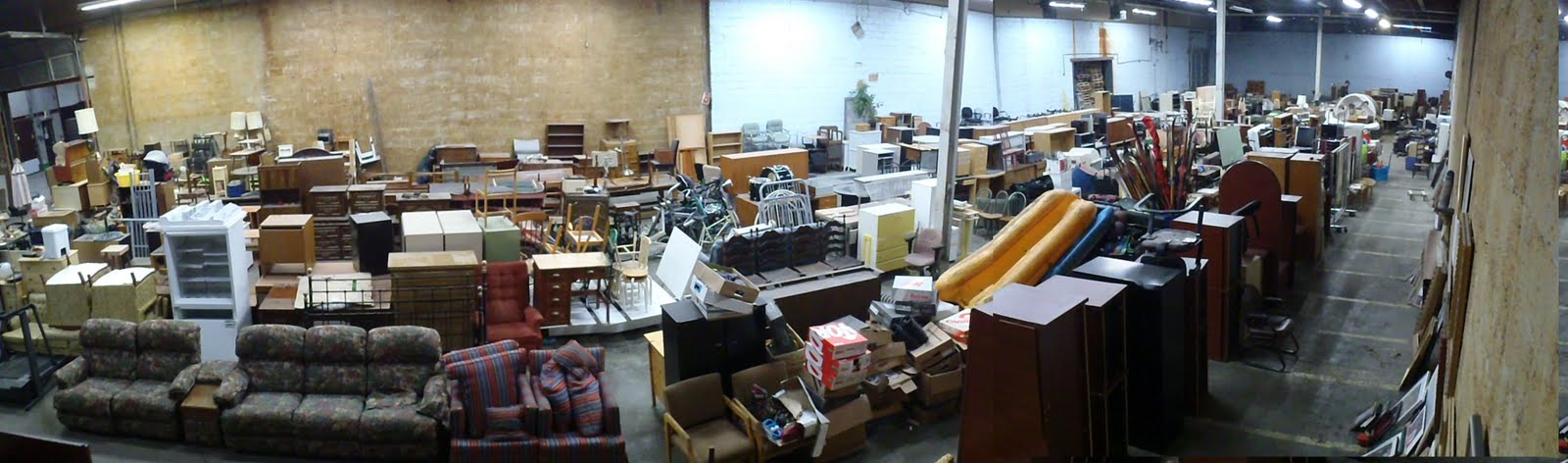 ... (if it's still good!) as well as a place that takes furniture donations  of all kinds, including from hotels. Lots of treasures to be found. Expect  dust!