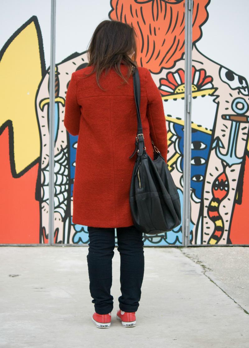 Persunmall  Red Coat